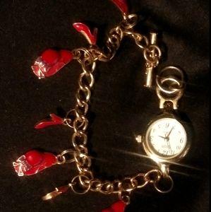 10KGP Vintage 80's Era Fashion Charm Watch